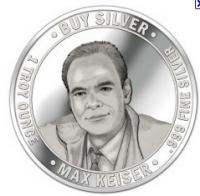 silver keiser, max keiser silver, max keiser silver round, max keiser silver coin, crash jp morgan buy silver, silver liberation army, silver vigilantes